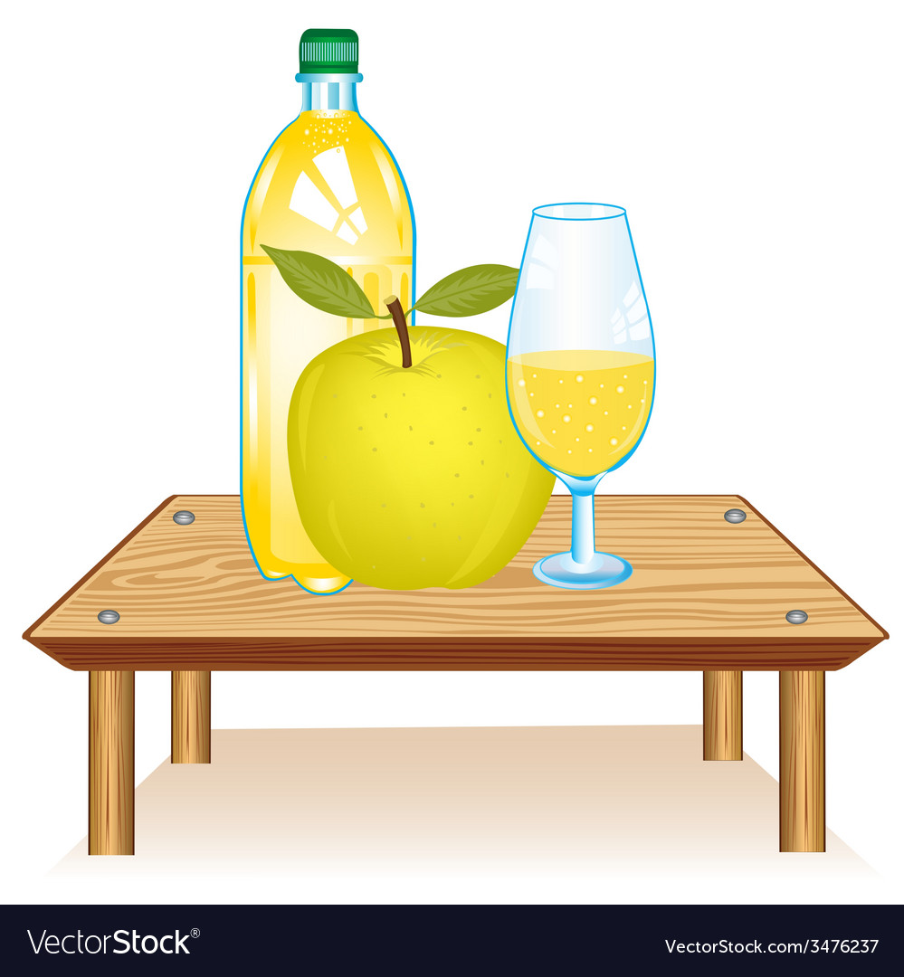 Table with drink vector