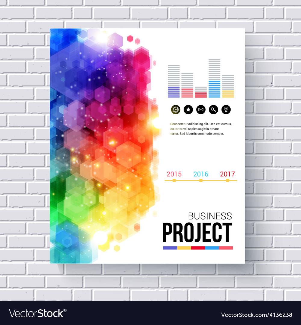Business project template for web or mobile vector