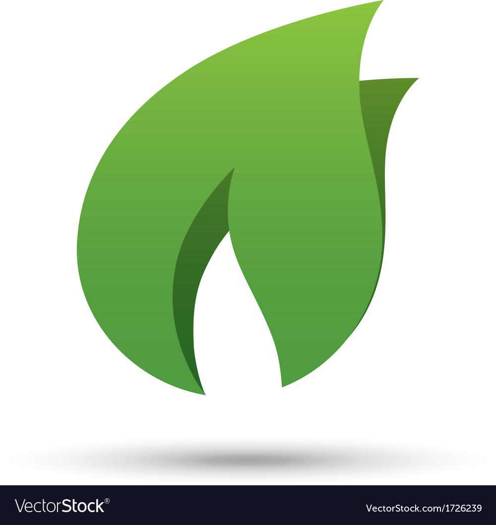 Eco icon green leaf  eco logo vector