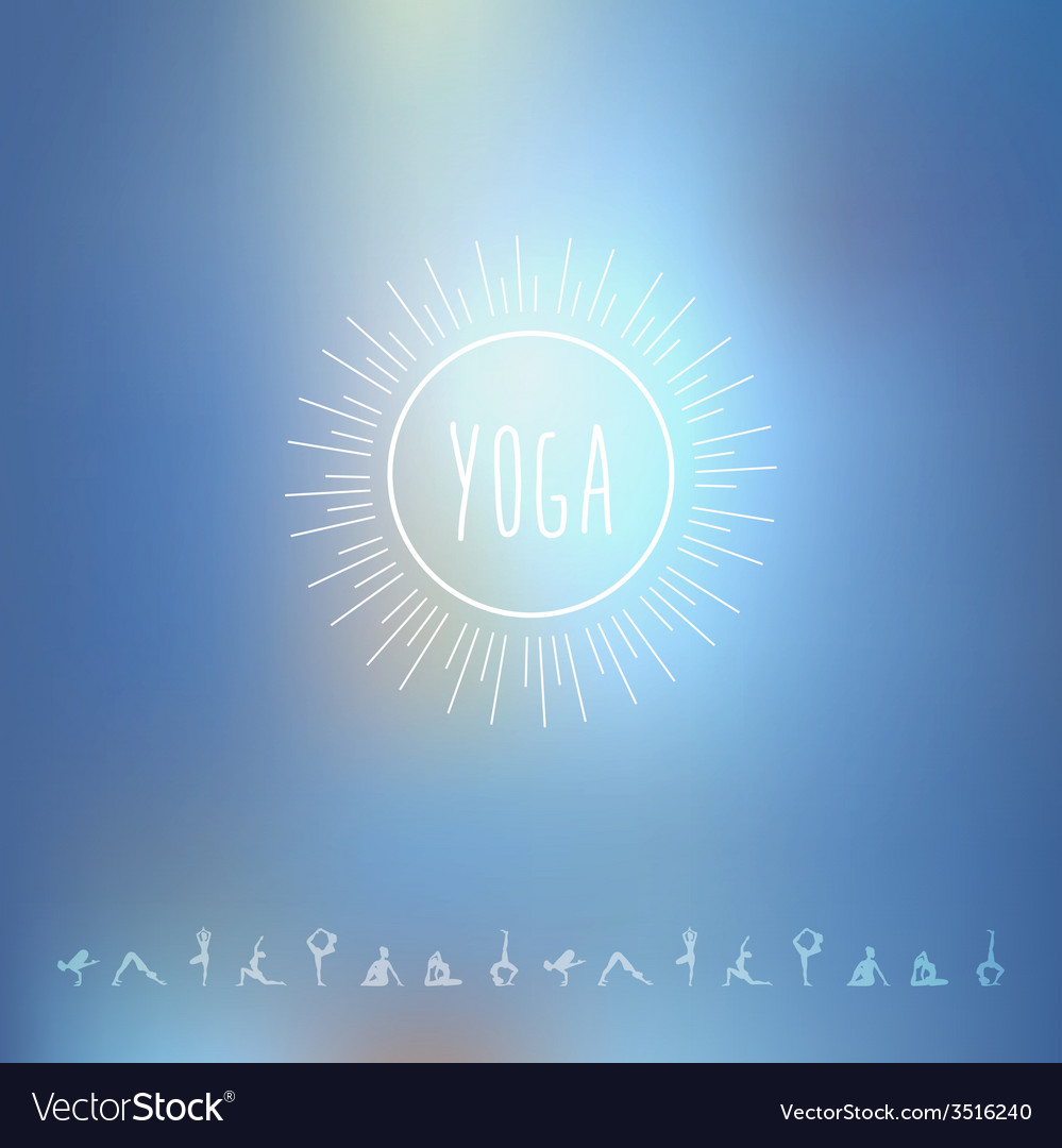 Blured background with yoga logo vector