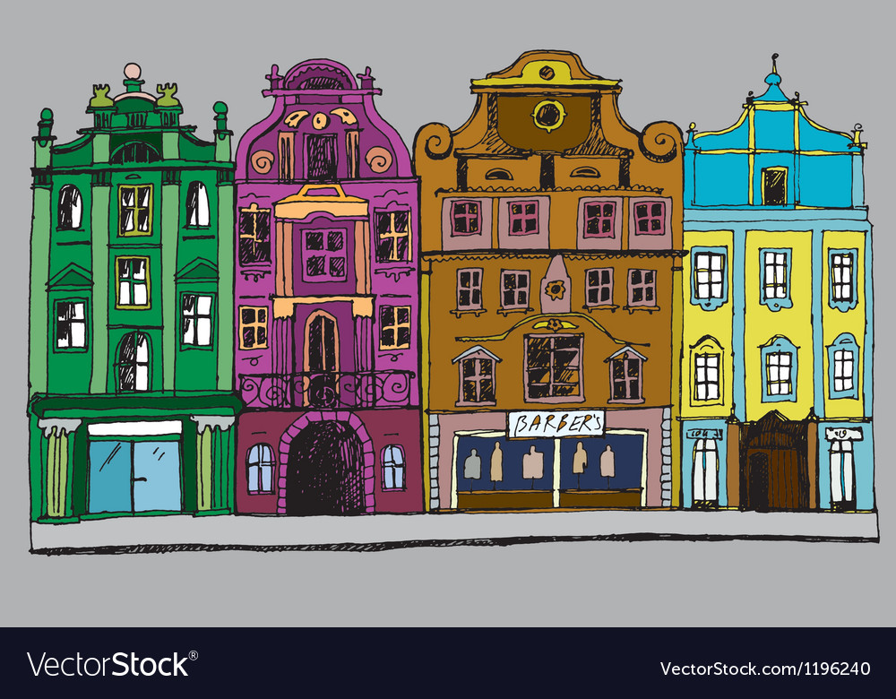 Buildings colorful vector
