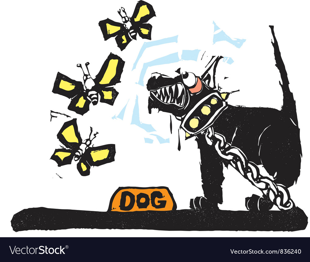 Guard dog vector
