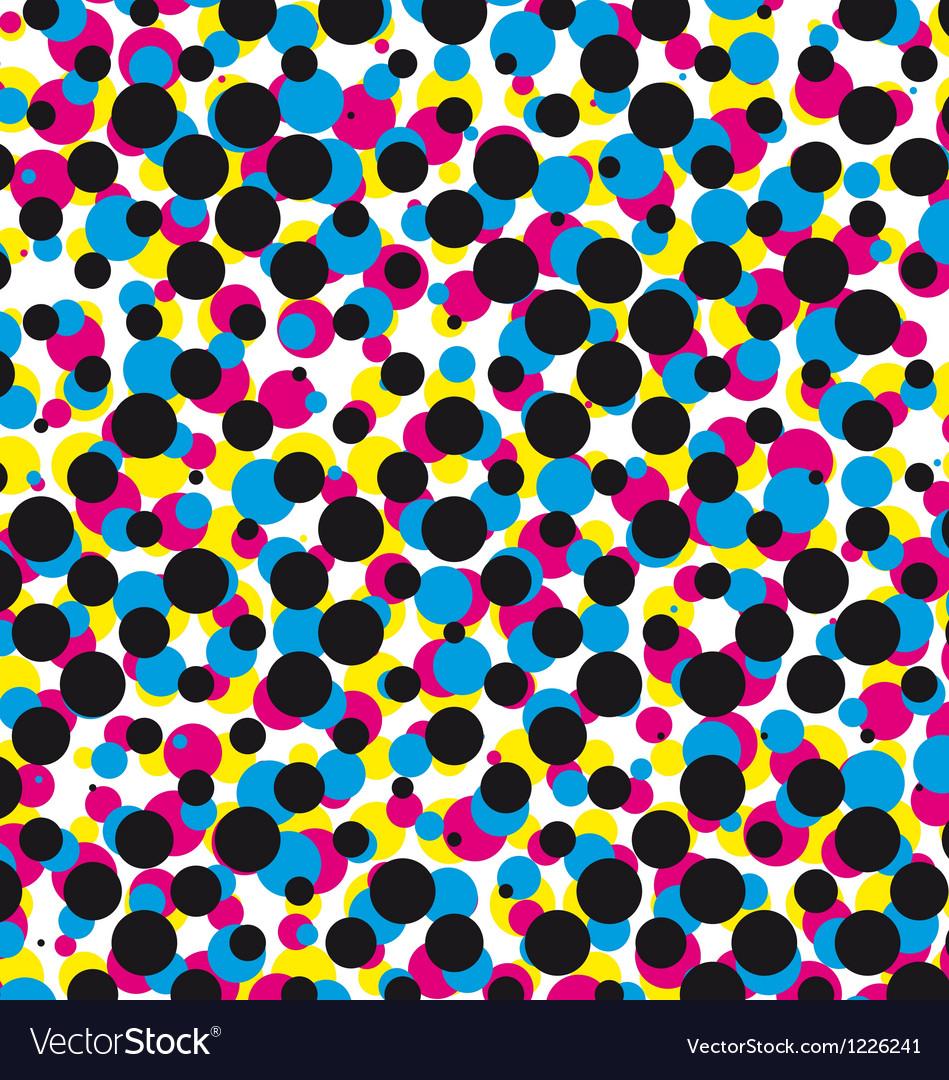 Cmyk halftone dot pattern vector