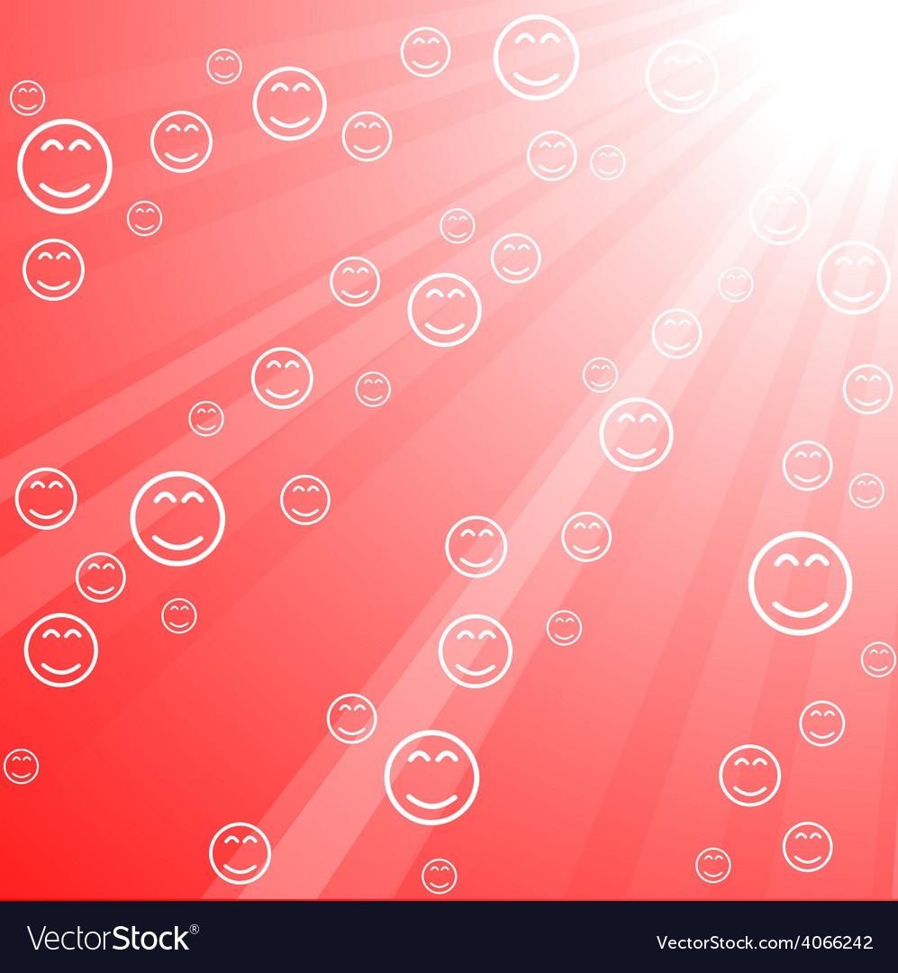 Sun with smileys vector