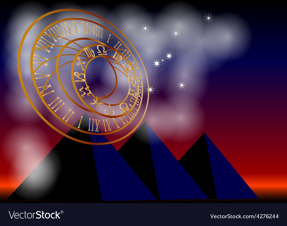 Ancient astronomy vector