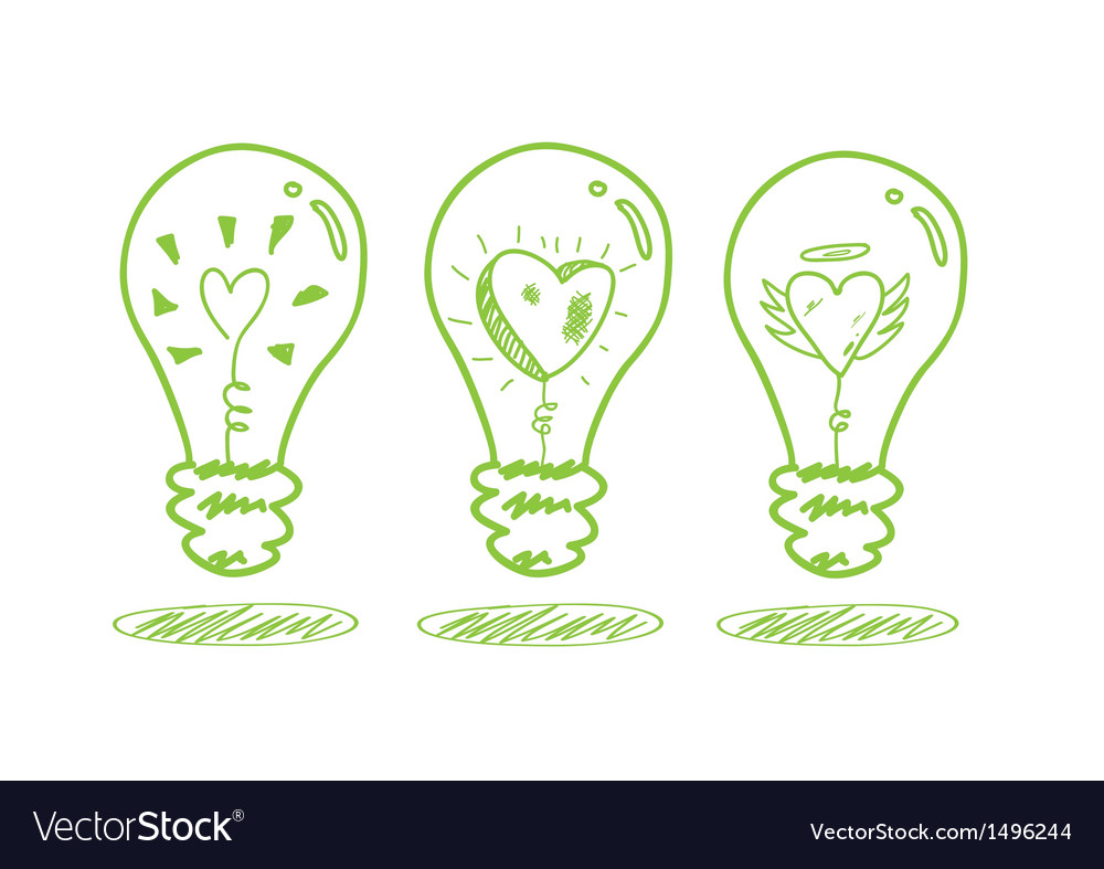 Love and saving energy concept vector