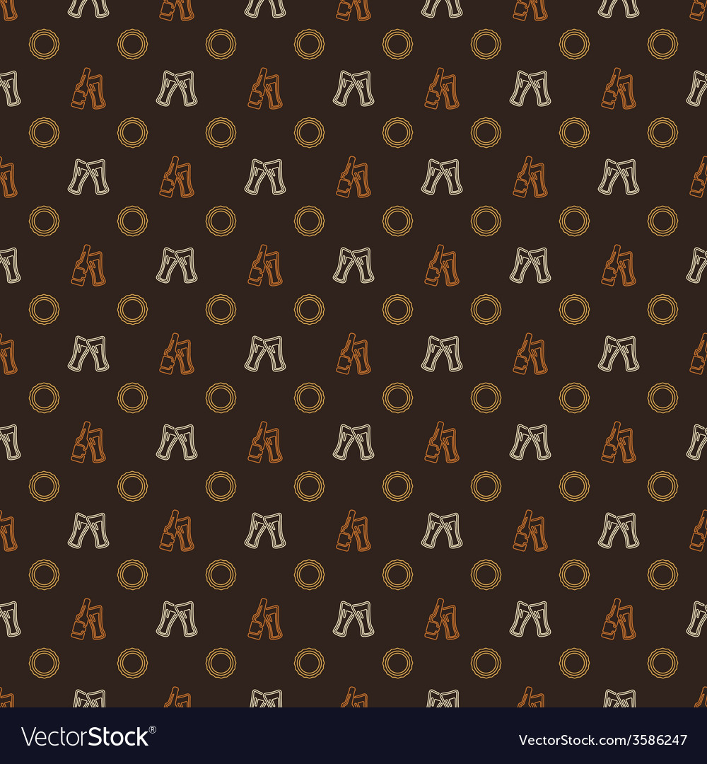 Beer pattern - alcohol seamless texture vector