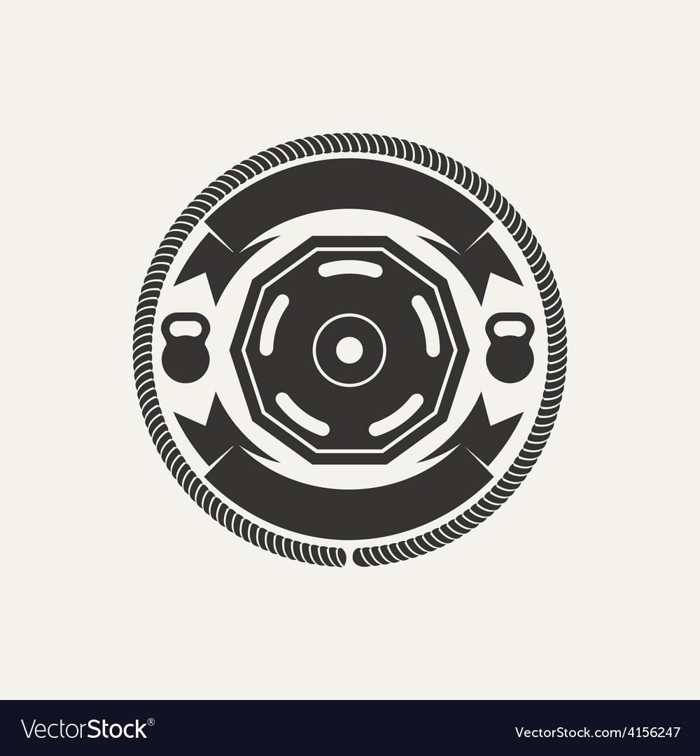 Gym athletic logo vector
