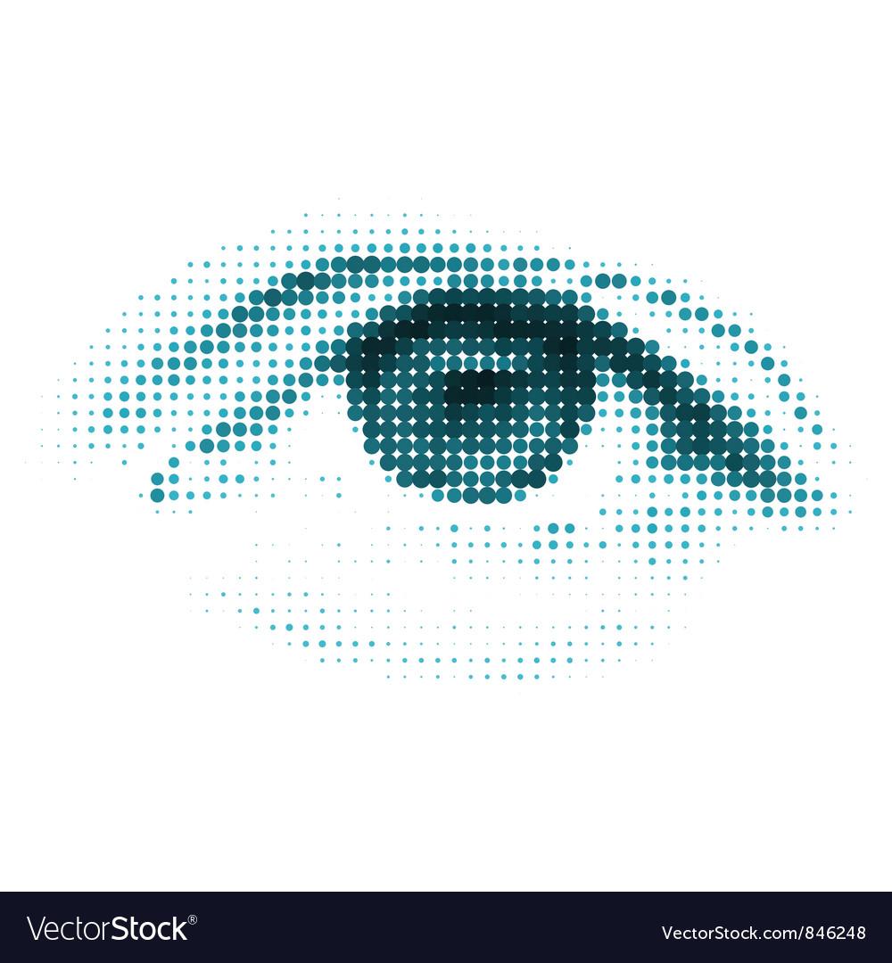 Blue color human digital eye vector