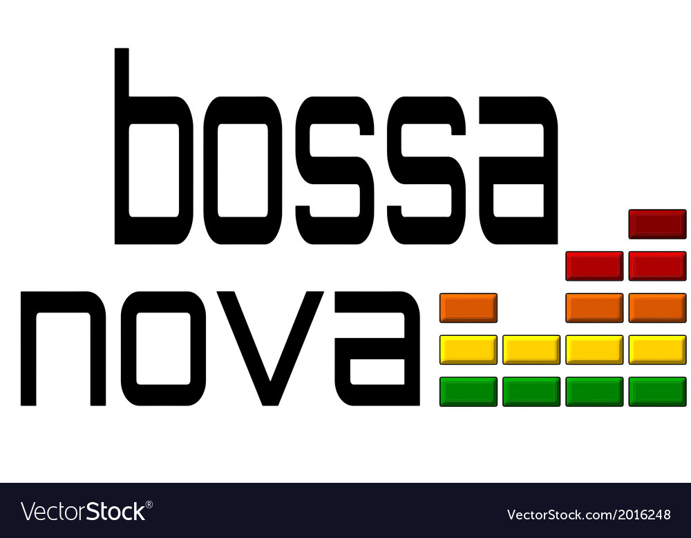 Bossa nova with dj equalizer music volume on alpha vector