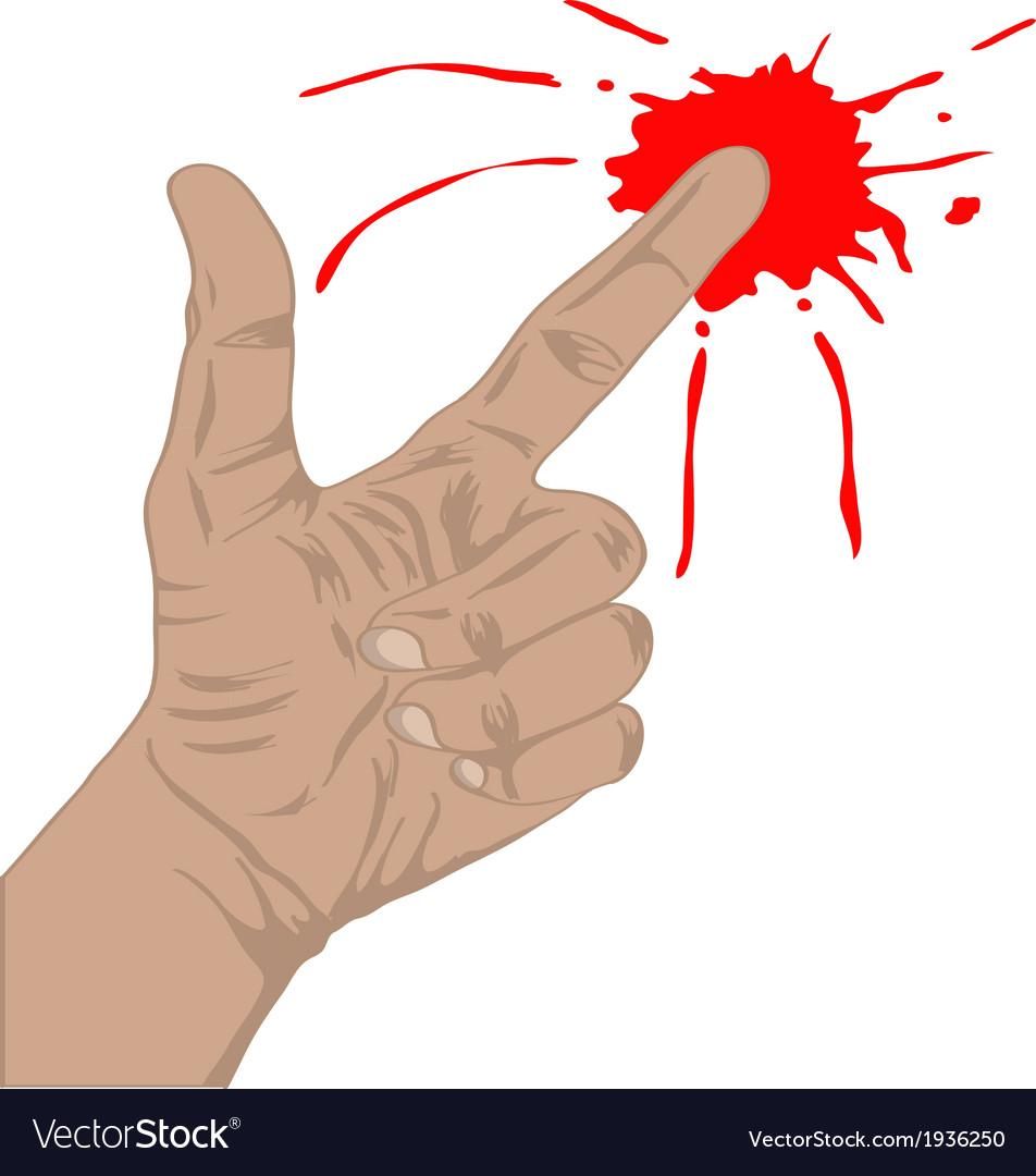 Finger gun with blood vector