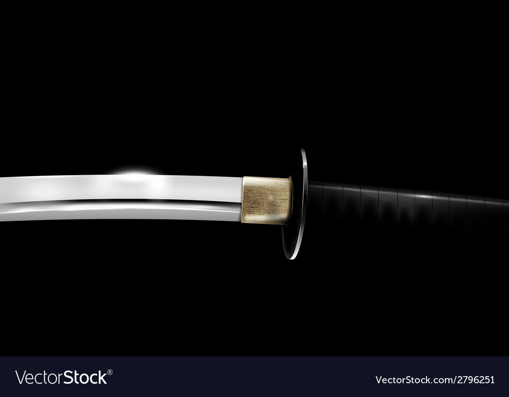 Japanese sword vector