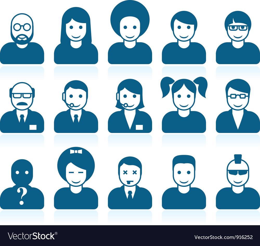 Simple people avatars vector