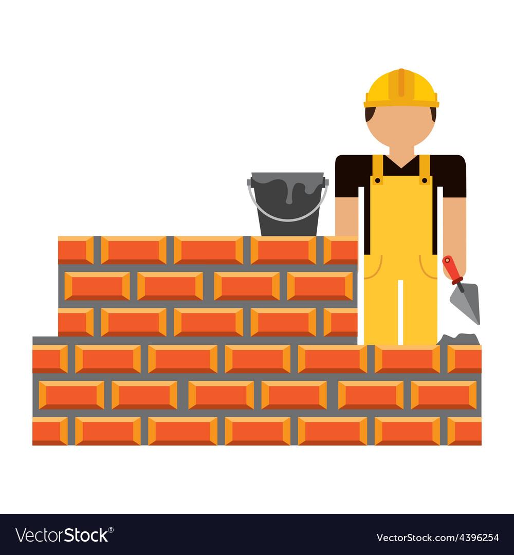 Builder man vector