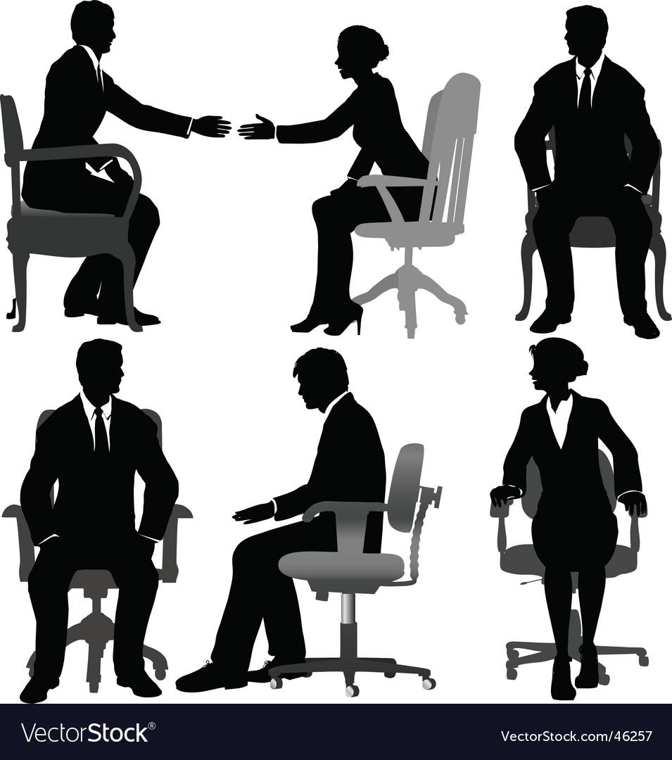 Business men and business women vector