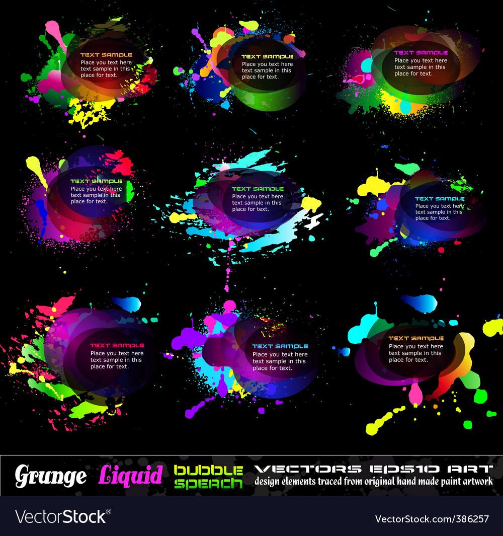 Grunge bubble drops vector