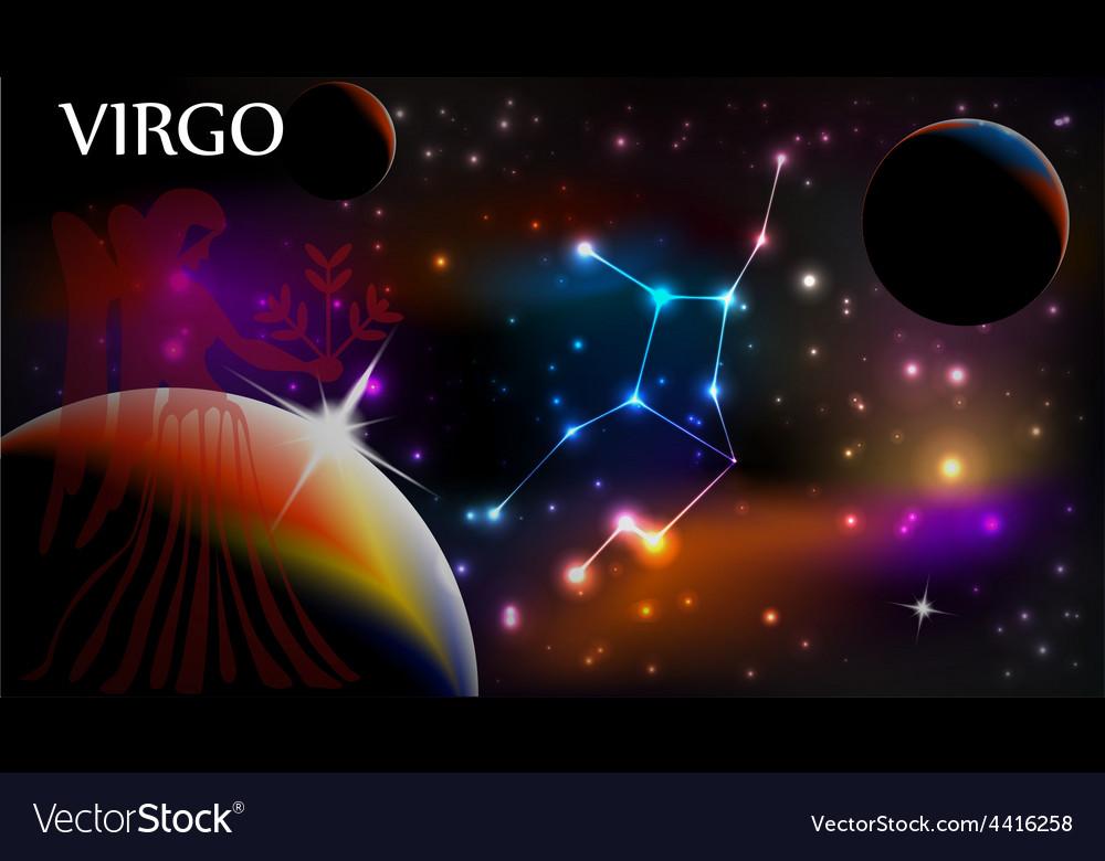 Astrology sign virgo vector