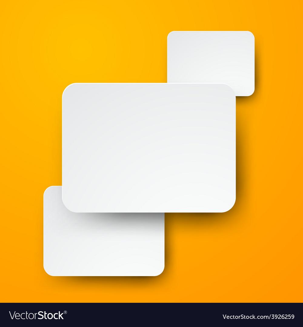 Paper white rectangular notes vector