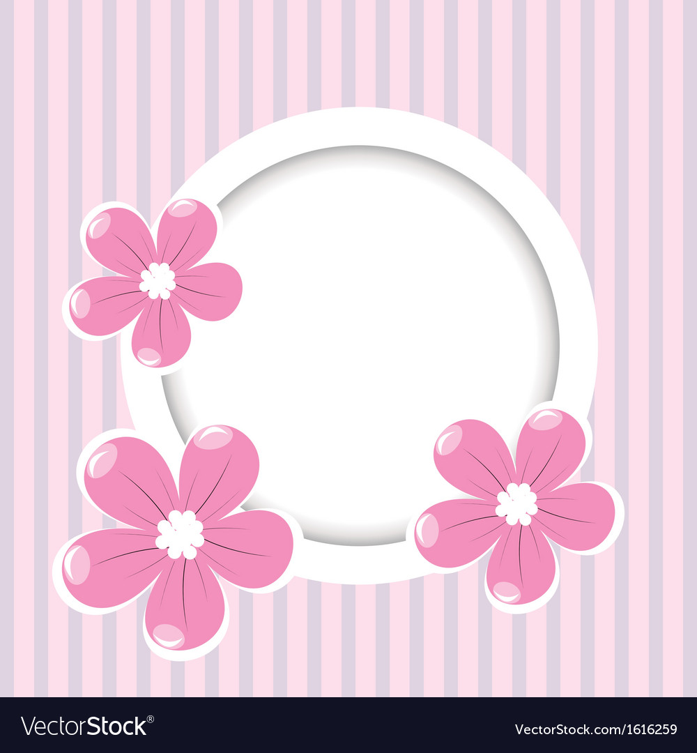 Retro stripped flower background vector