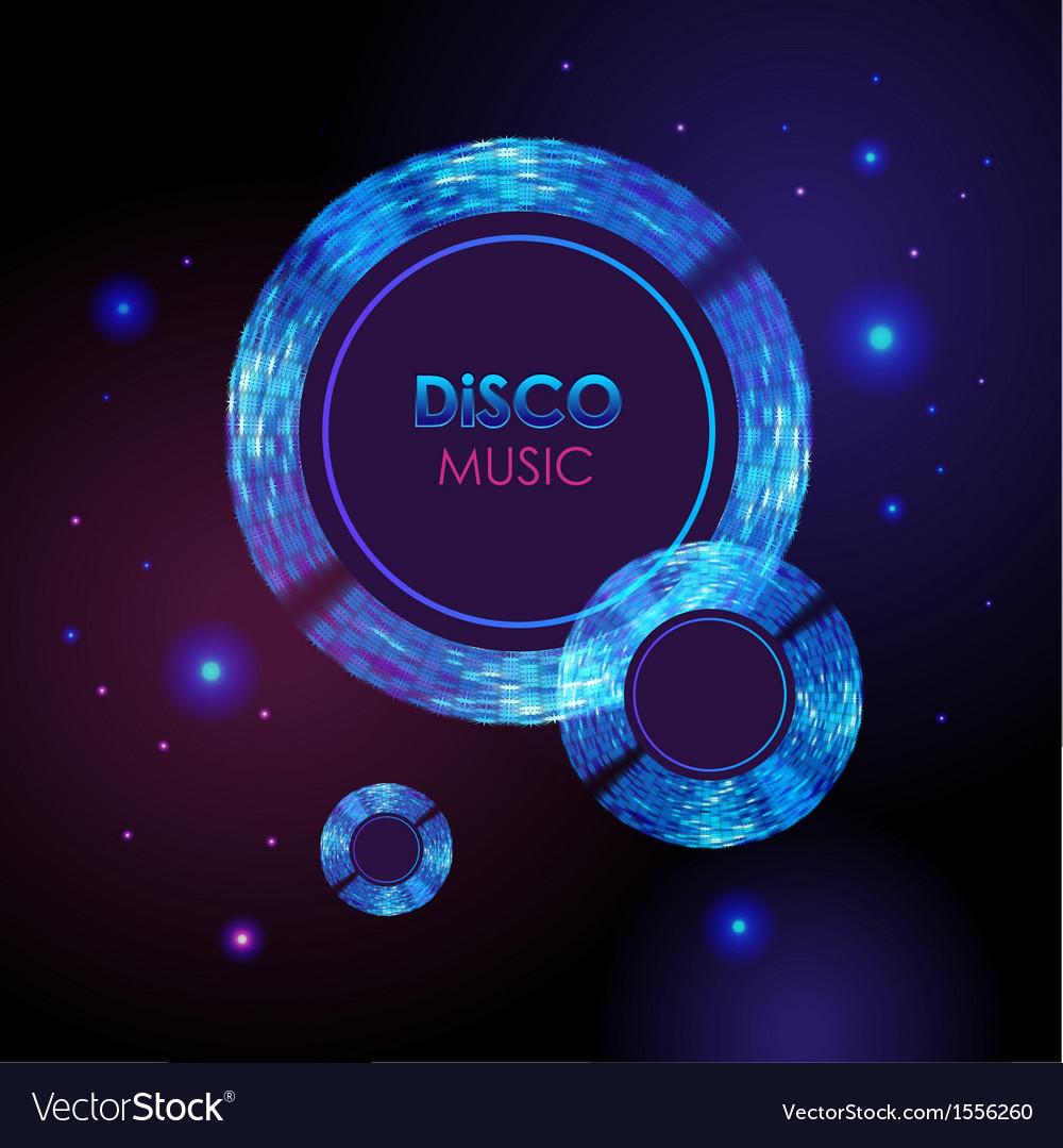 Abstract disco neon background vector