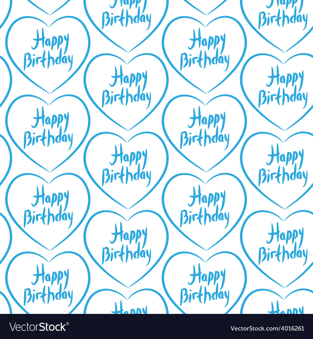 Seamless pattern with blue hearts on a white vector