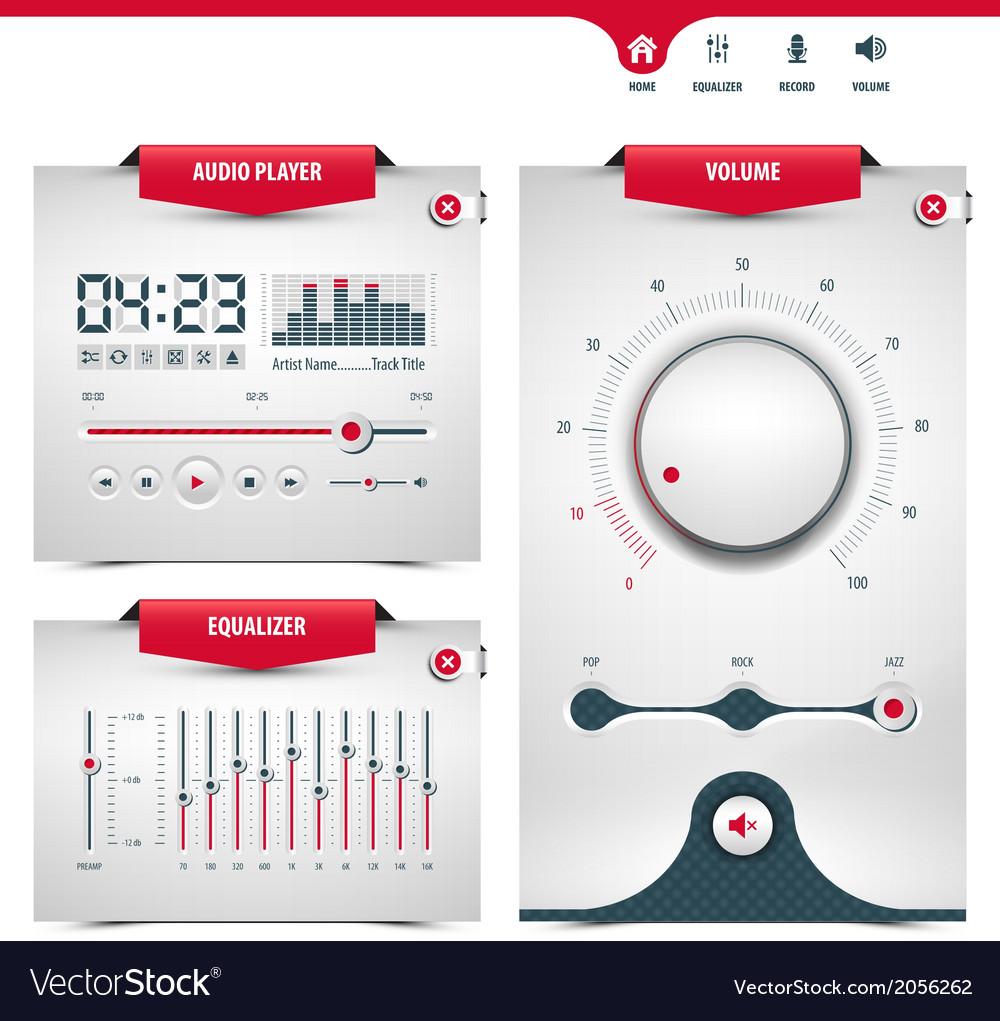 Audio player vector