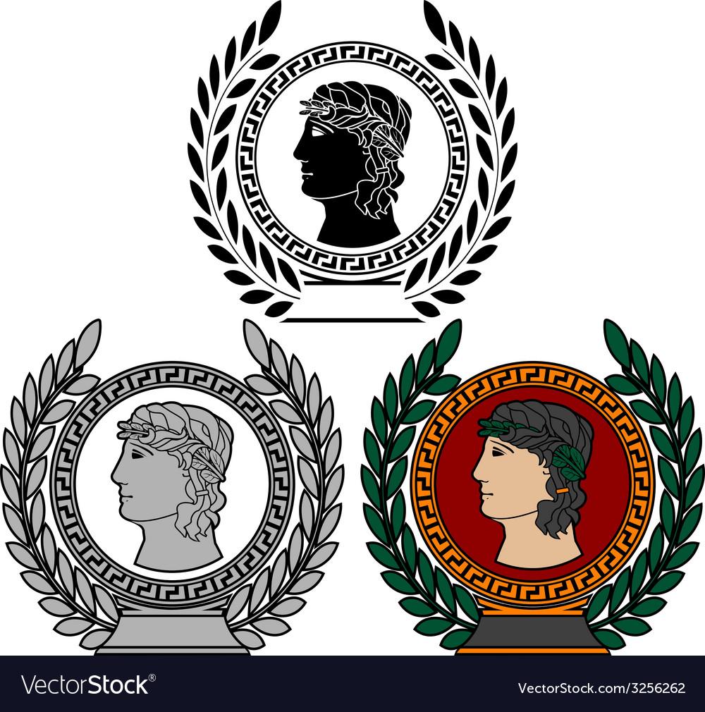 Glory of ancient greek man vector