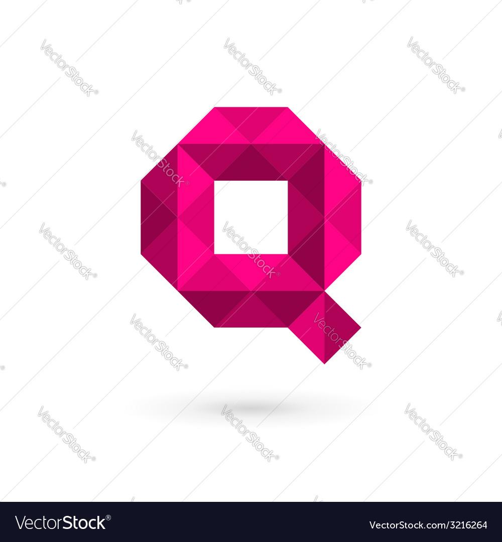 Letter q mosaic logo icon design template elements vector