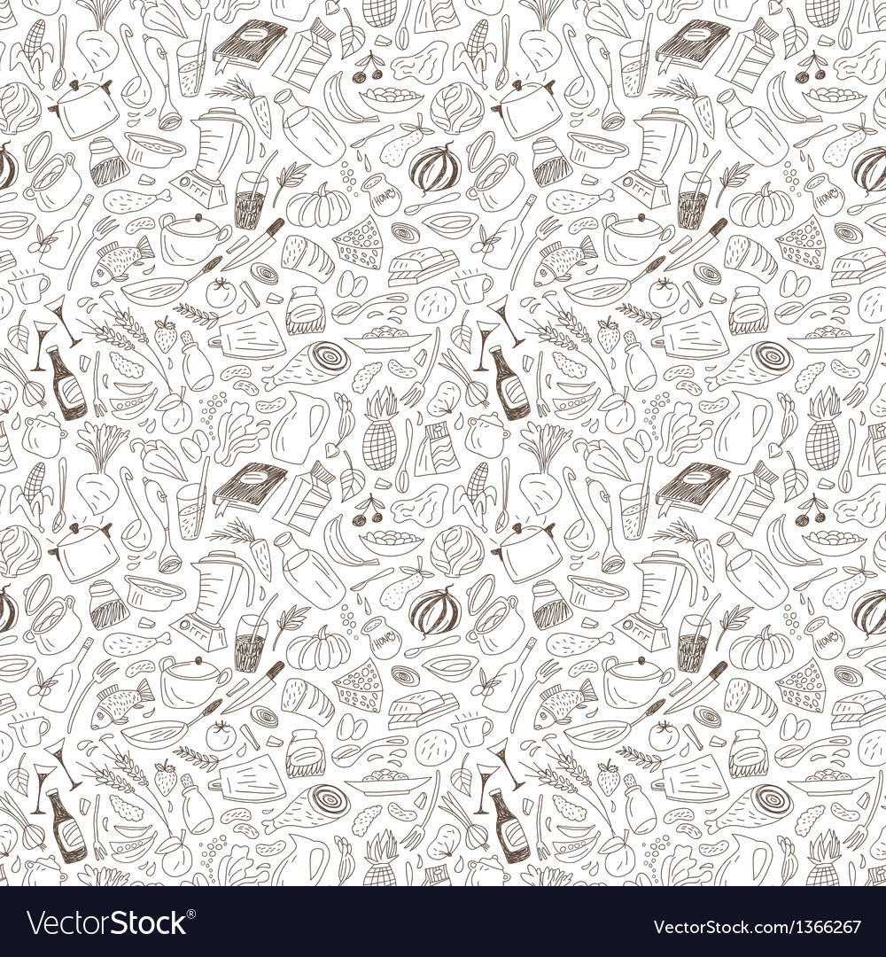 Natural food seamless pattern vector