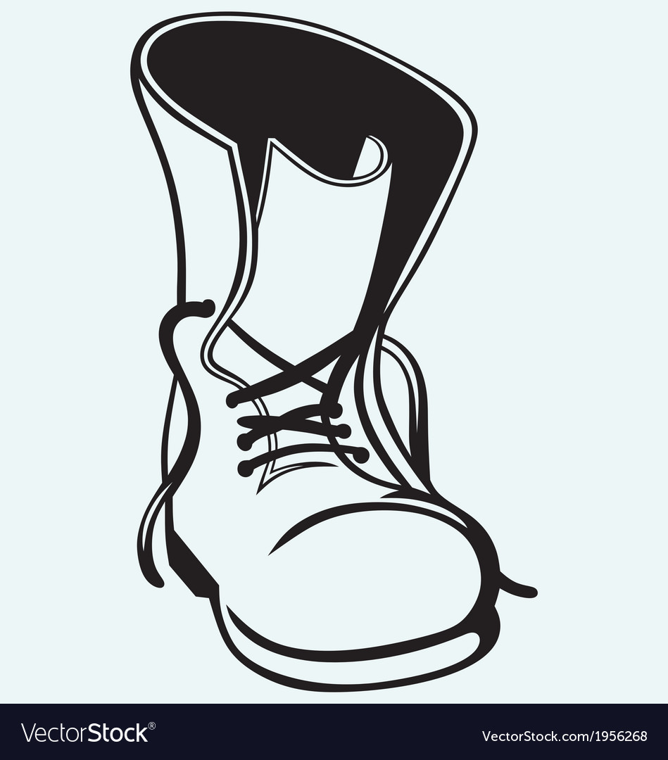 Old dirty boots vector