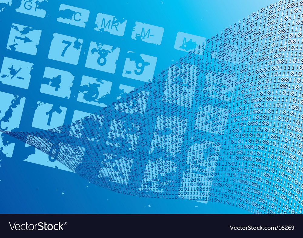 Abstract blue background dial vector