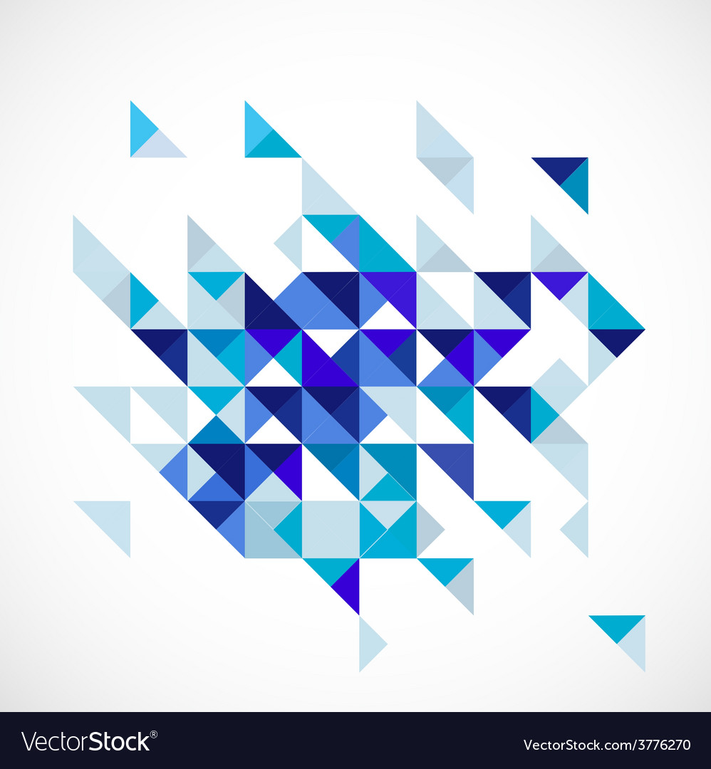 Abstract blue modern geometric business template vector
