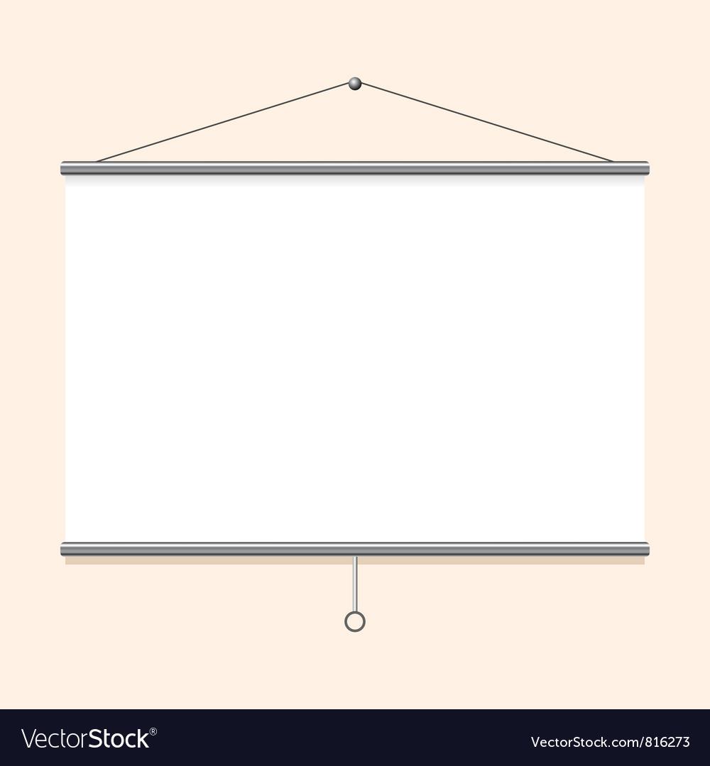 Portable projector screen vector