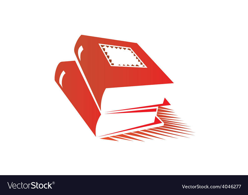 Books abstract logo vector