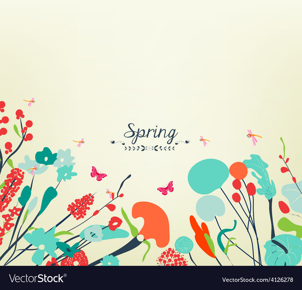 Blossom into spring vintage 2 vector