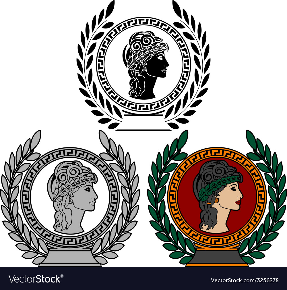 Glory of ancient greek woman vector