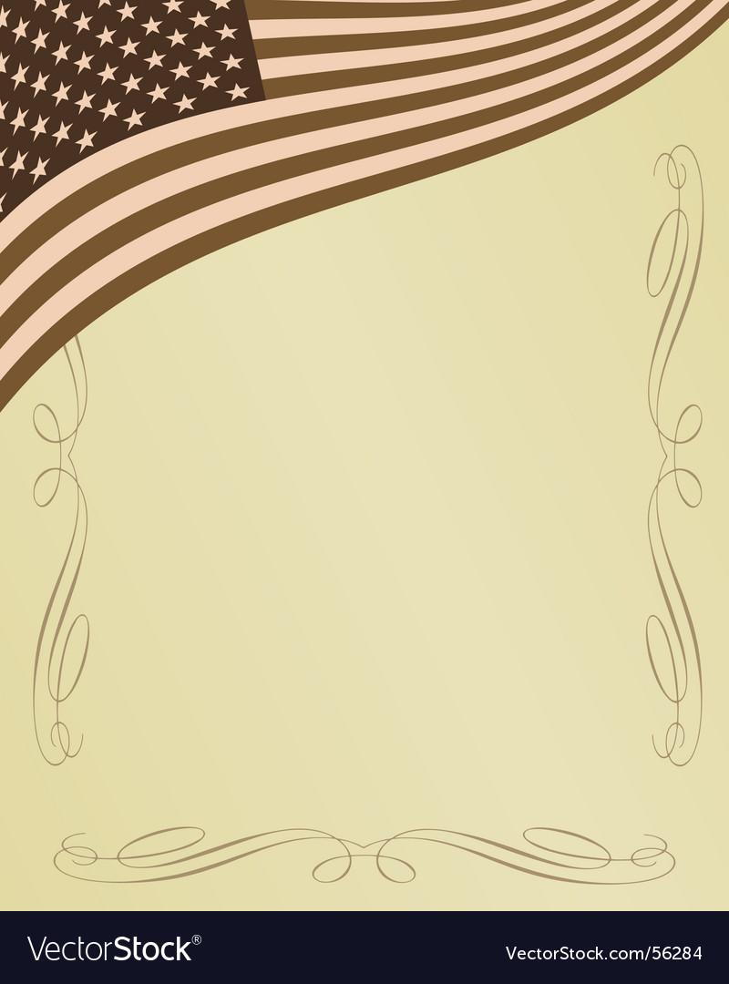 American page vector
