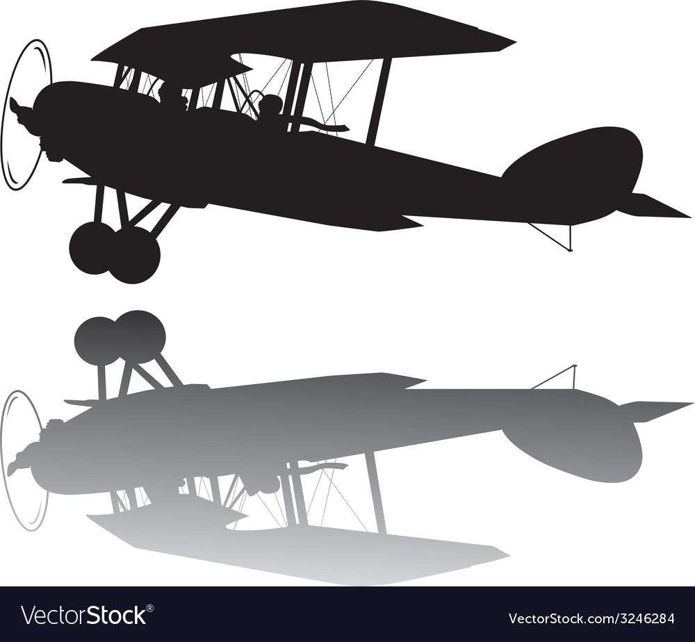 Vintage airplane vector