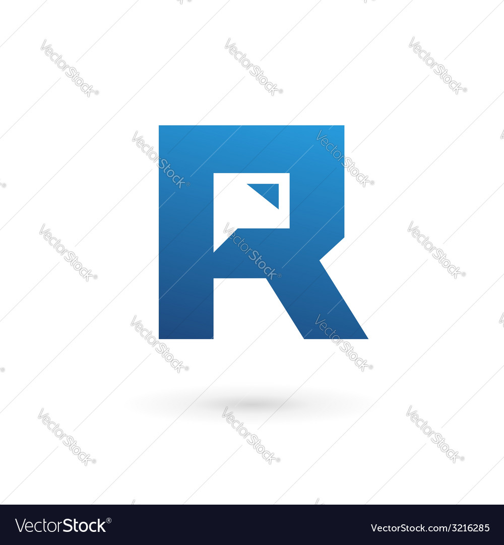 Letter r speech bubble logo icon design template vector