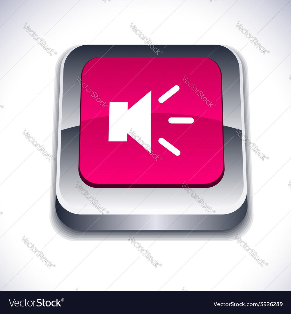 Sound 3d button vector