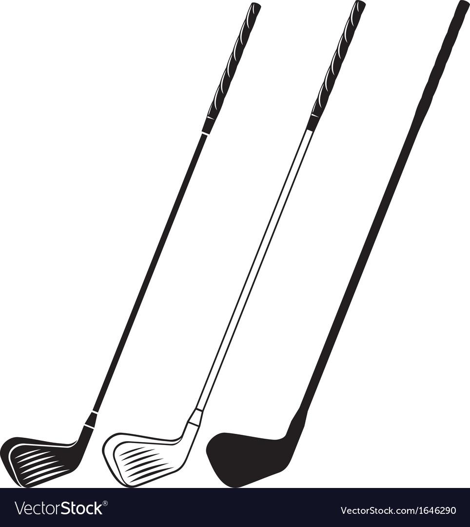 Golf club vector