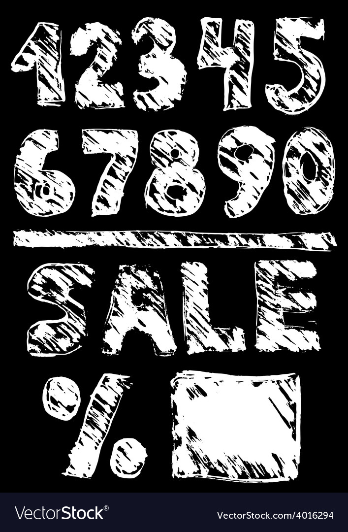 Figures sale black sketch vintage poster vector