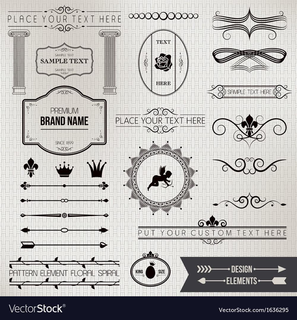 Design elements part 1 vector