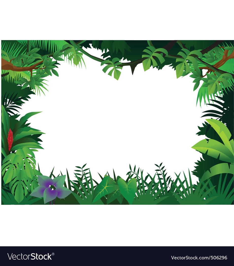 Jungle frame vector