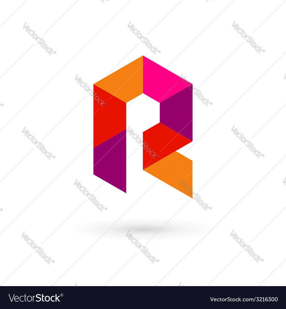 Letter r mosaic logo icon design template elements vector