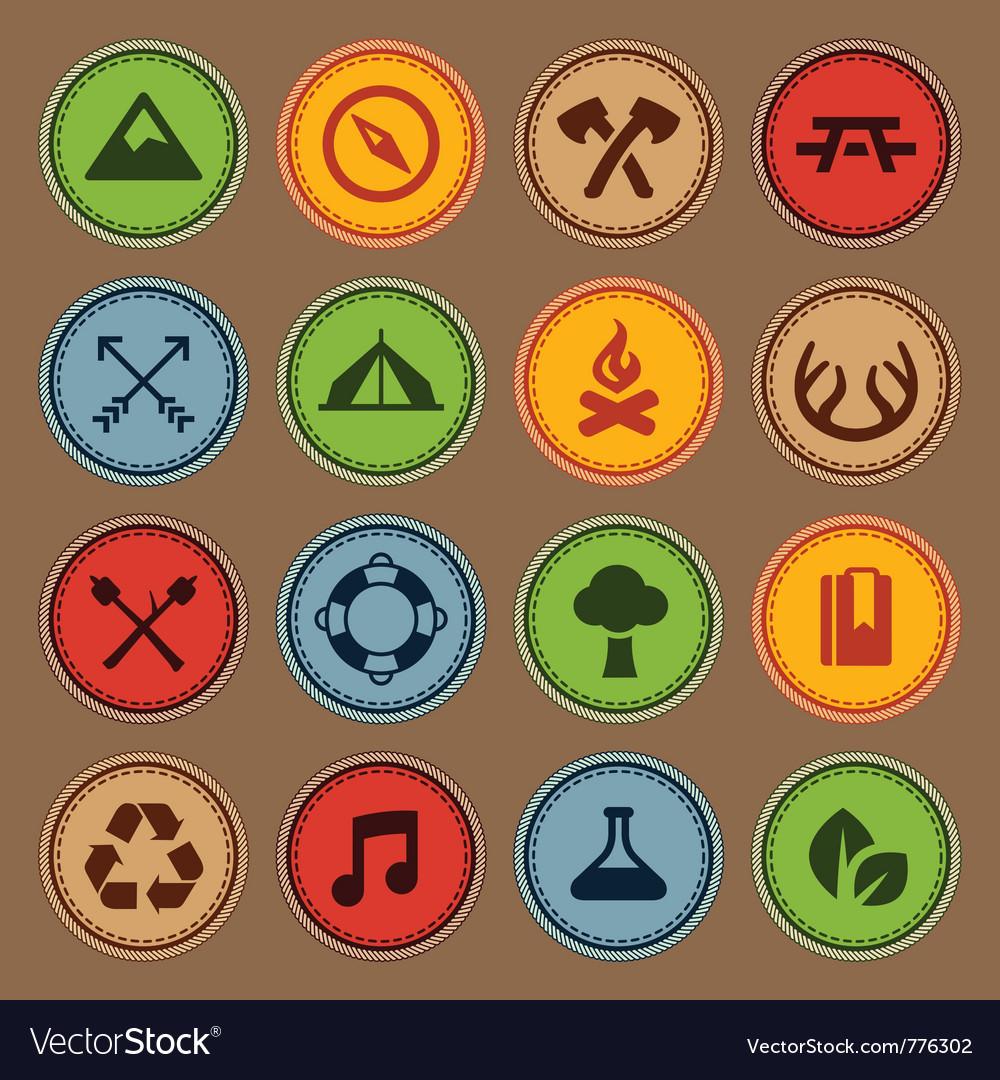 Merit badges vector
