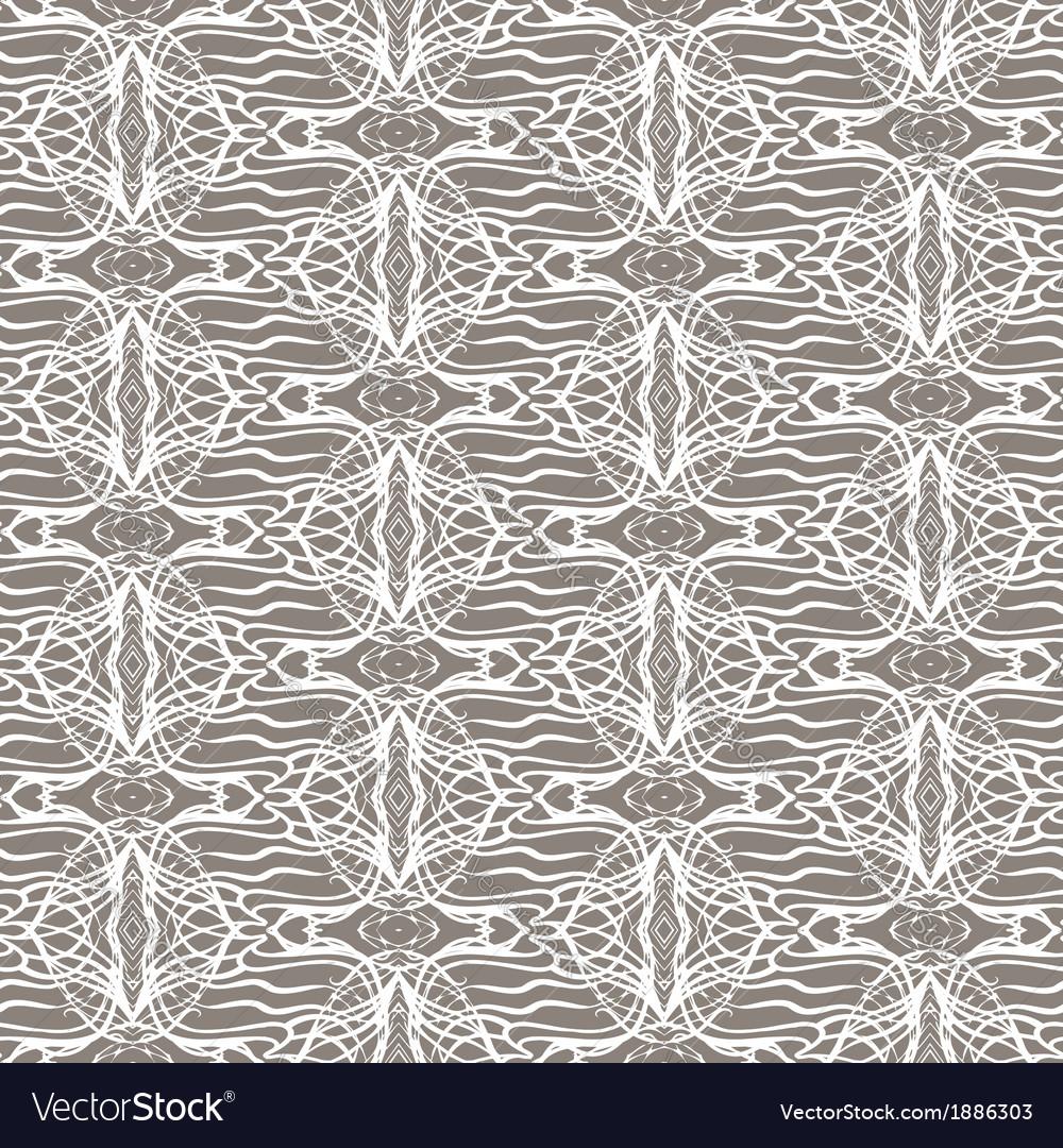 Lacing geometric ornament in art deco style vector