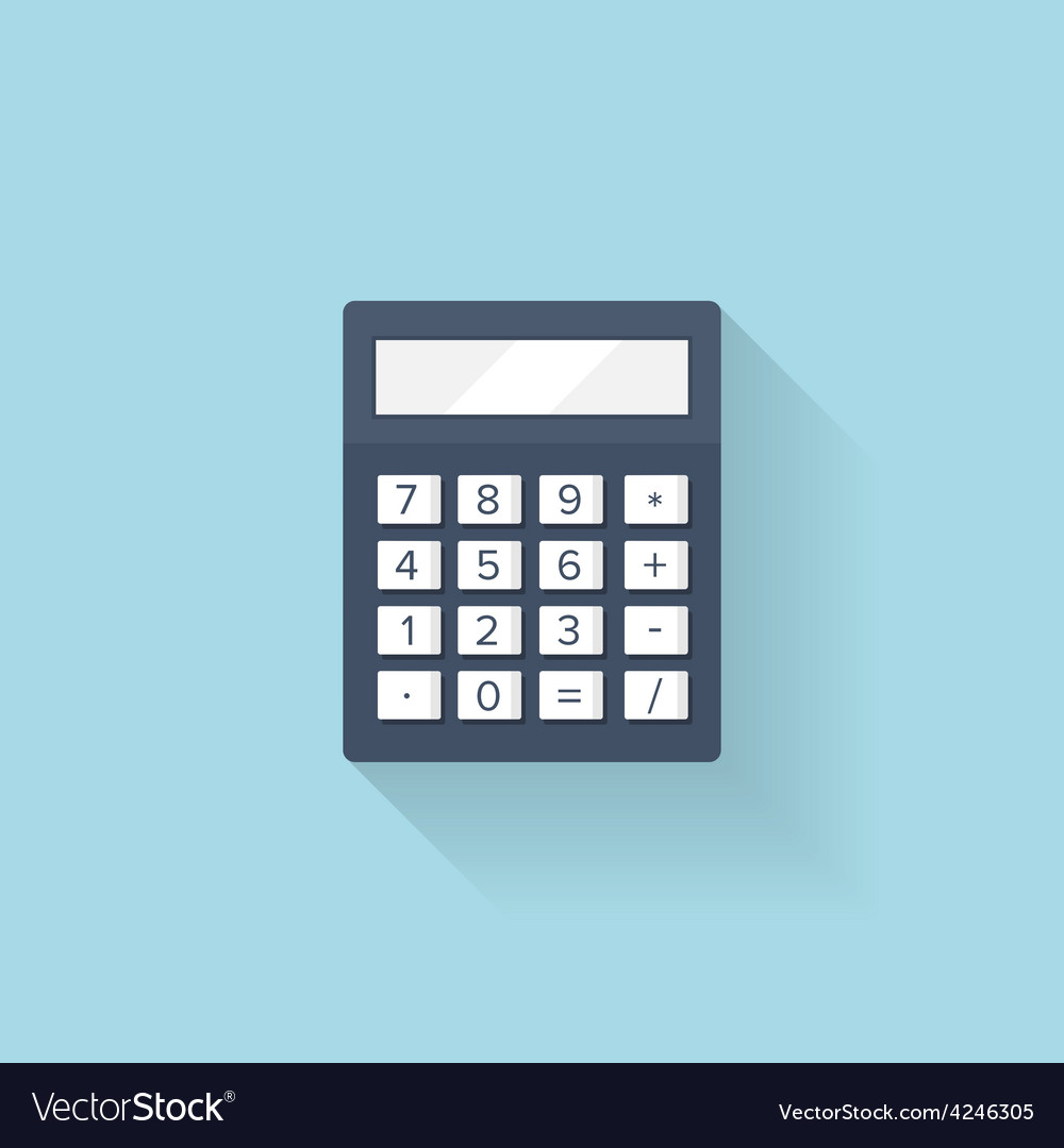 Flat calculator icon vector
