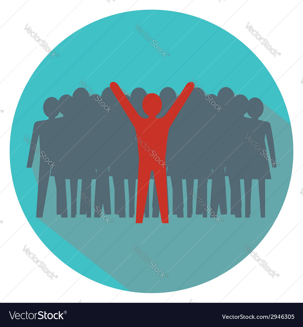 Leadership concept stand out from the crowd vector