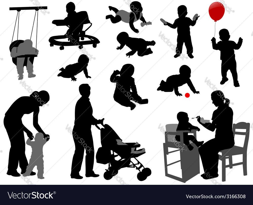 Babies and toddlers vector
